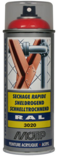 Motip 07088 Lacquer spray 400 Rouge signalisation
