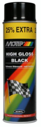 Motip Spray de verniz Preto 500 ml