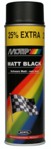 Motip Lacquer spray Black 500 ml