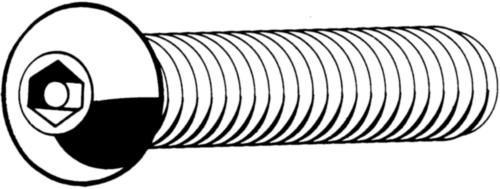SECURITY Hatlapú belső kulcsnyílású félgömbfejű csavar, csappal Rozsdamentes acél A2 M5X50