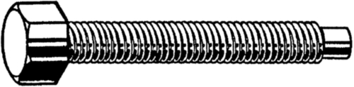 Small hexagon head set screw with full dog point DIN 561 Steel Plain 22H
