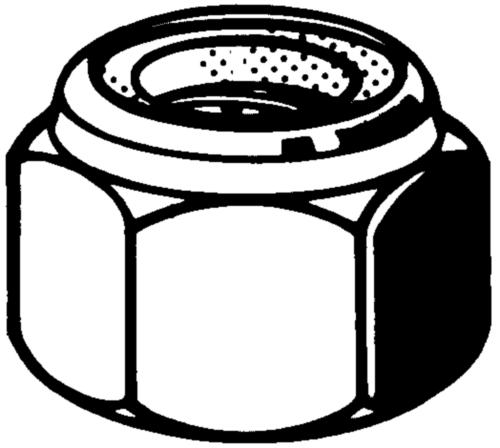 Önzáró anya műanyag betéttel -NE- ASME B18.16.6 Acél ASME B18.16.6 Horganyzott Gr.N5 1/4-20