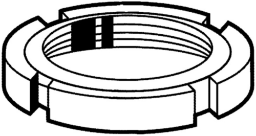 Ronde moer met gleuven MF DIN 1804 W Staal Blank |5|