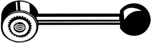 Gépkar, emelhető Esztergált acél M8X97X18
