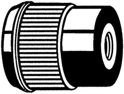 Knurled knobs ribbed small diameter