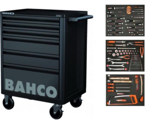 Bahco Servante avec outils 6 drawers, black, 130 pieces
