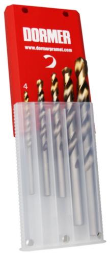 Dormer Jobber drill set A089 HSS Blanc/TiN 10 (A002X5)