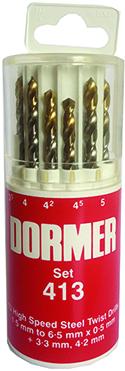 Dormer Jobber drill set A094 DIN 338 HSS 13 A002x13