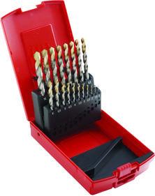 Dormer Jobber drill set A095 HSS Blanc/TiN 200