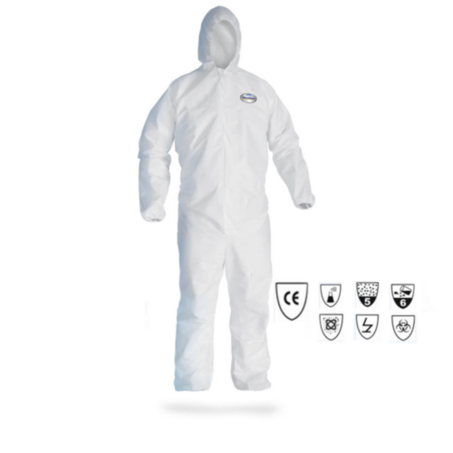 Kleenguard Disposable coverall A30 with hood 98006 White 3XL