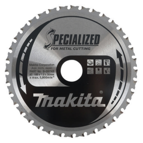 Makita Hoja de sierra circular 185X30X1,9 36T 0G