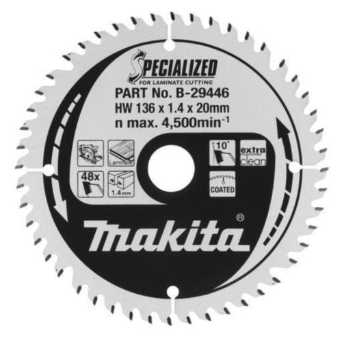 Makita Cirkelzaagbladen 165X20X1,45 44T 23G