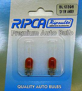 RIPC-2PC-BL12396 LAMP 12V 5W W2.1X9.5D