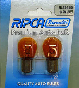 RIPC-2PC-BL12496 LAMP 12V 21W BAU15S OR