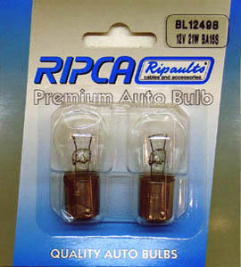 RIPC-2PC-BL12498 LAMP 12V 21W BA15S