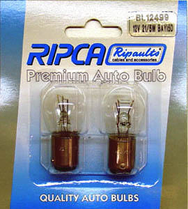 RIPC-2PC-BL12499 LAMP 12V 21/5W BAY15D