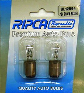 RIPC-2PC-BL12594 LAMP 12V 21/4W BAZ15D