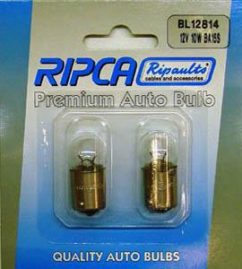 RIPC-2PC-BL12814 LAMP 12V 10W BA15S