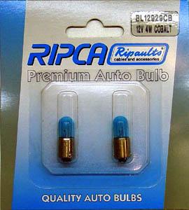 RIPC-2PC-BL12929CB LAMP 12V 4W BA9S