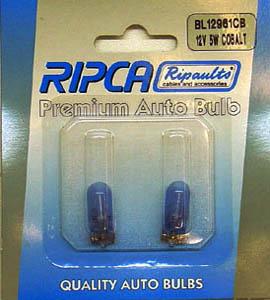 RIPC-2PC-BL12961CB LAMP 12V 5W W2.1X9.5D