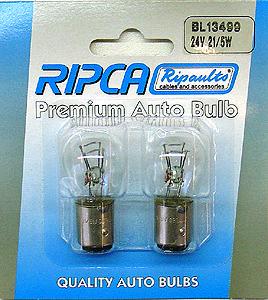 RIPC-1PC-BL13499 LAMP 24V 21/5W BAY15D