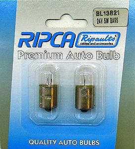 RIPC-2PC-BL13821 LAMP 24V 5W BA15S 149