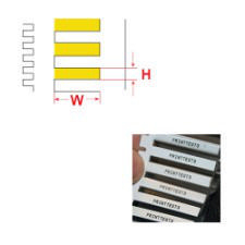 Brady Wire Marking Insert BM71D-5-7696-YL 5000PC