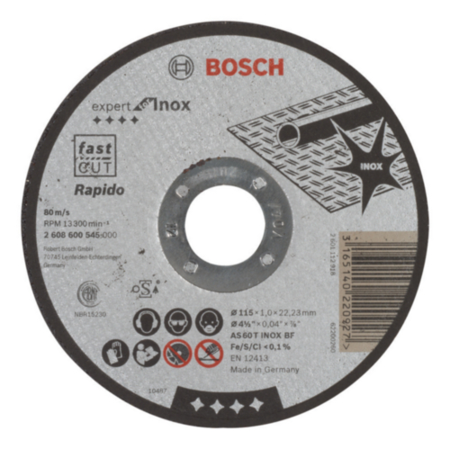 Bosch Disco de corte AS 60 T BF 115MM