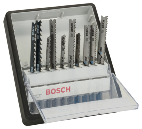 Bosch Jigsaw blade set 10PC Wood+Metal