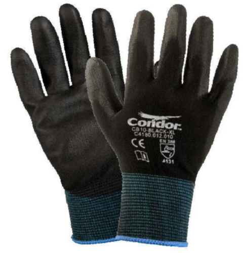 Condor Handpalm bedekt Nylon CLEAN T CB10-BLCK-XL