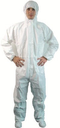 Condor Disposable coverall with hood White BC16-356 - M