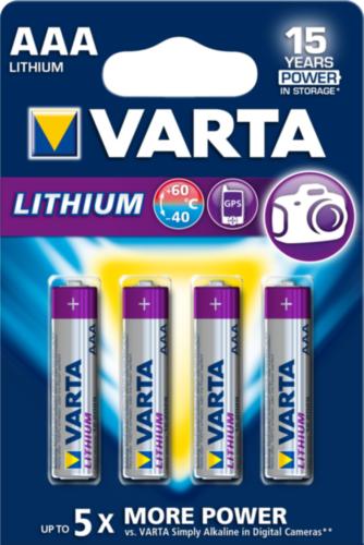 VART LITH. BATT. BLS     LR03 AAA (4 PC)