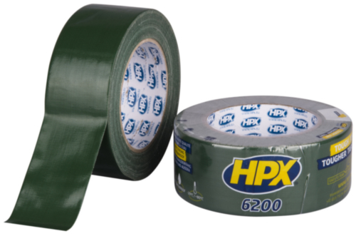 HPX 6200 Duct tape Olive green 48MMX25M