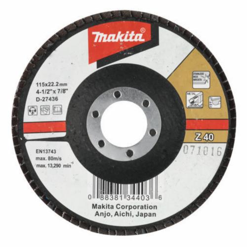 Makita Flap disc 125X22 K80