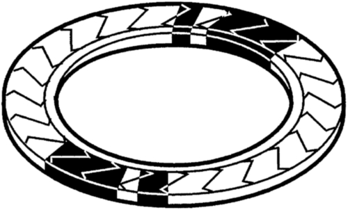 Poistná tanierová pružina typ Z Pružinová oceľ 420-510 HV10 Zinkový povlak bez Cr<sup>6+</sup>- ISO 10683 flZnnc