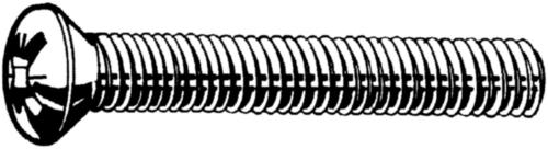 Lencsefejű, kereszthornyos csavar DIN 966 A-Z Rozsdamentes acél A4
