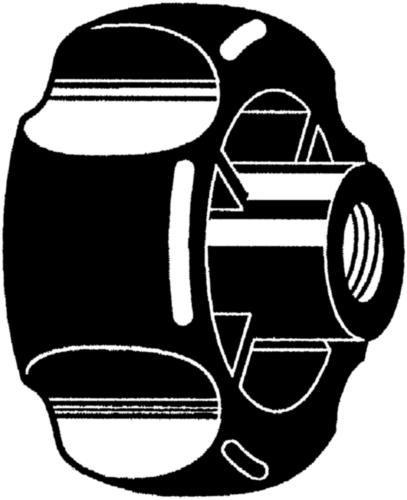 Turning knobs 4-grips