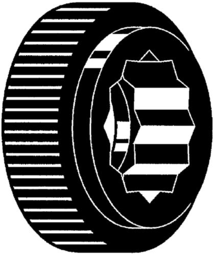 Mânere rotunde randalinate pentru profil hexagonal