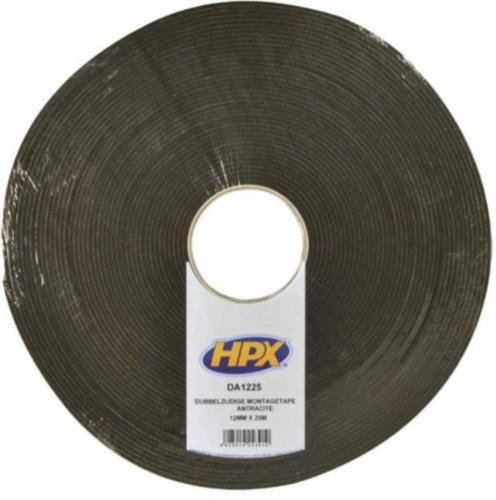 HPX Double coated foam tape Anthracite grey 12MMX25M DA1225