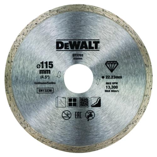 DeWalt Diamantschneidscheibe 115mm/22.2mm
