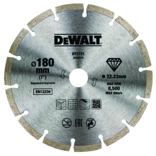 DeWalt Diamantschneidscheibe 180mm-22.2mm