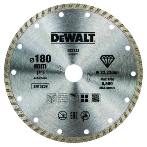DeWalt Diamantschneidscheibe 180mm/22.2mm