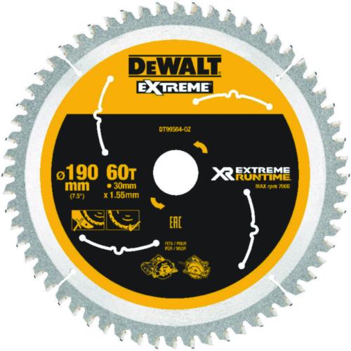 DeWalt Hoja de sierra circular 190mmx30mm 60T