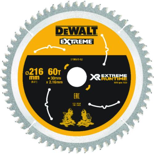 DeWalt Tarcza do piły tarczowej 216mmx30mm 60T