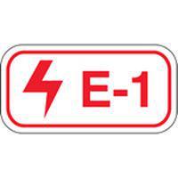 Brady Energy source tag E-1-19X13MM-SA/100 100PC