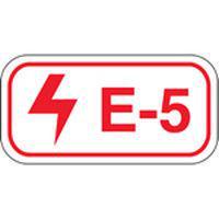 Brady Etiquette source d'energie E-5-75X38MM-SAPP 25PC
