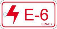 Brady Etiquette source d'energie E-6-75X38MM-SAPP 25PC