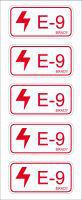 Brady Energy source tag E-9-75X38MM-SA/5 5PC