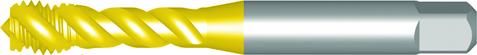 Dormer Machine tap E002TIN ISO 529 N/A HSSE TiN M3x0.50mm