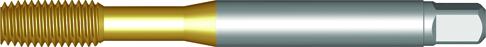 Dormer Machine tap E295 DIN 2174 HSSE TiN M5x0.80mm